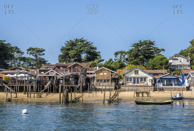 France,  Arcachon bay,  Cap Ferret,  oyster village of Canon