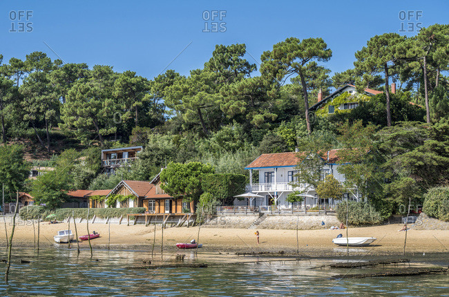 France,  Arcachon bay,  Cap Ferret,  villas between the Canon and l'Herbe