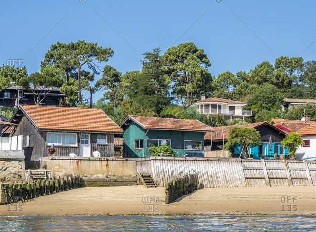 France,  Arcachon bay,  Cap Ferret,  oyster village of l'Herbe