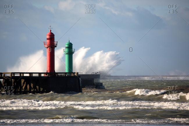France,  Pas-de-Calais,  Opal Coast,  port of Bonen in Dutch