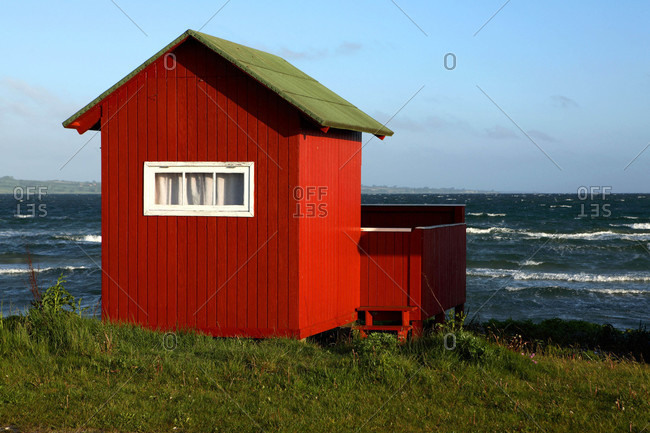 Danemark,  Aero island,  beach hut.