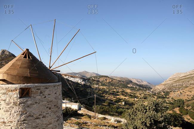 Greece,  Cyclades,  Naxos,  windmill