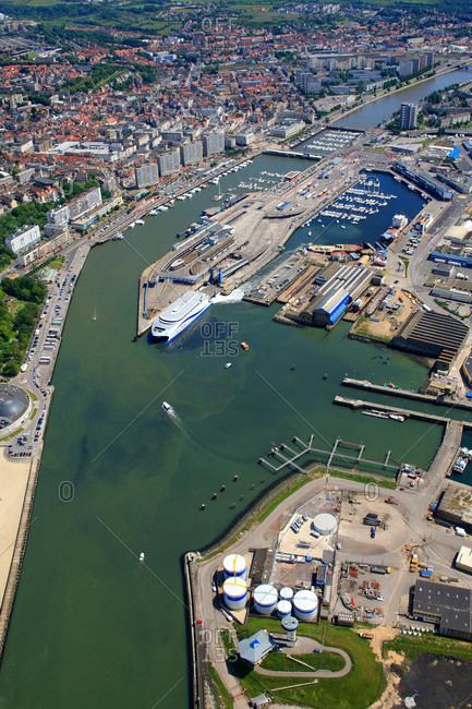 France - June 13,  2009: France,  Pas-de-Calais,  aerial view of Boulogne sur Mer