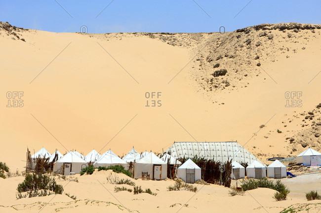 Morocco,  Dakhla,  tourist camp