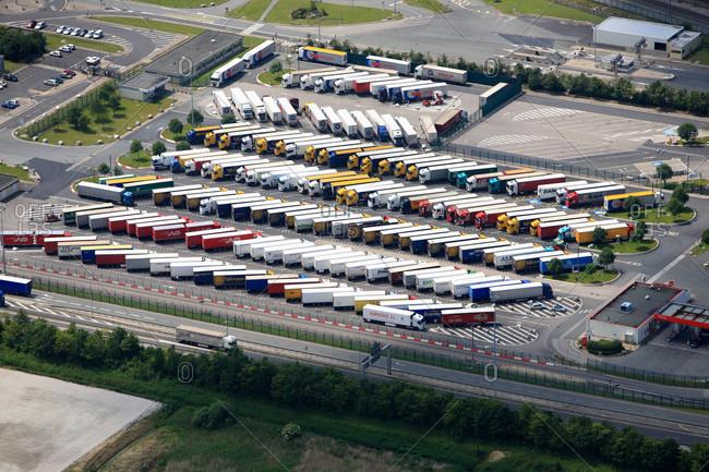 France - June 13,  2009: France,  Pas-de-Calais,  Coquelles,