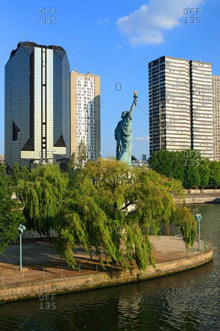 France - June 29,  2009: France,  Paris,  ile des cygnes,  statue of liberty