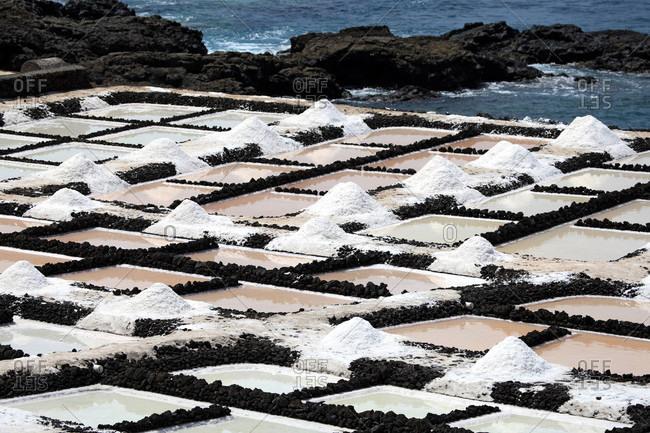 Spain,  Canary islands,  La Palma,  Fuencaliente,  salines