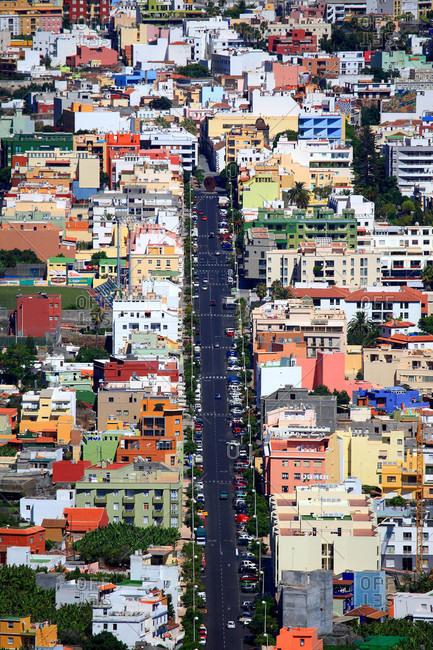 Spain - August 5,  2009: Spain,  Canary islands,  La Palma,  Los Llanos de Aridane