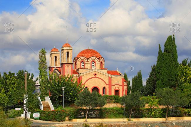 Cyprus - August 11,  2020: Cyprus,  Chlorakas,  Agios Georgios church