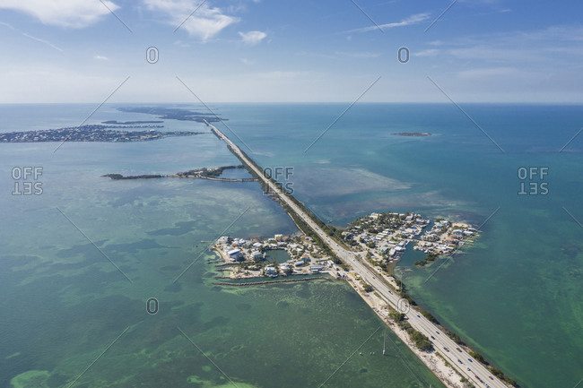 Oversea highway, aerial view, Conch Key, Florida, United States