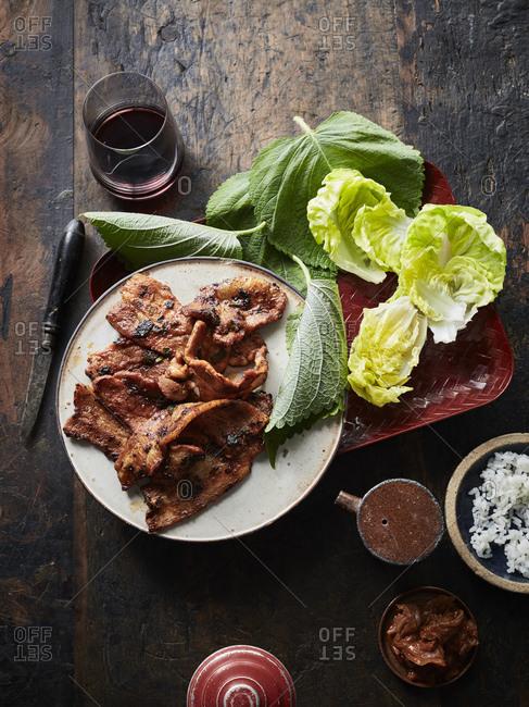 Daeji bulgogi (korean spicy pork)