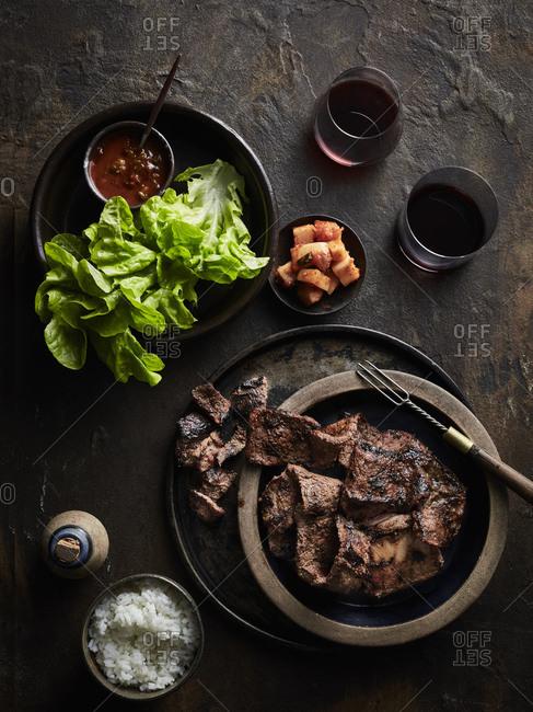 BBQ galbi (korean bbq beef short ribs)