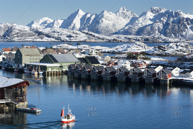 March 24, 2015: Administrative Centre, Svolvaer, Nordland, Norway