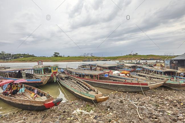 Bandarban farmers and wholesalers gather at Tabalcheri floating market on Kaptai Lakeshore