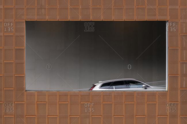 Car seen through parking window