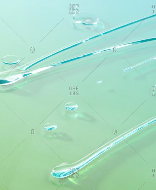 Hand sanitizer gel on light blue background