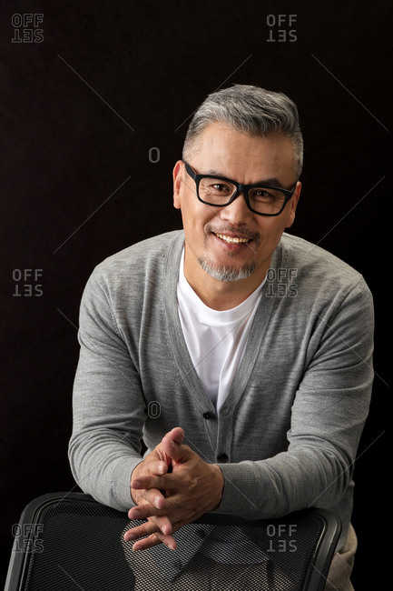 Portrait of a happy, middle-aged man