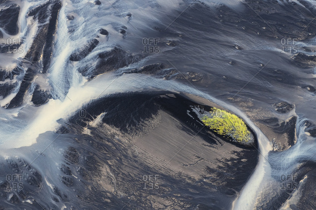 Europe, Iceland, Skaftafell, Iceland's river courses from above