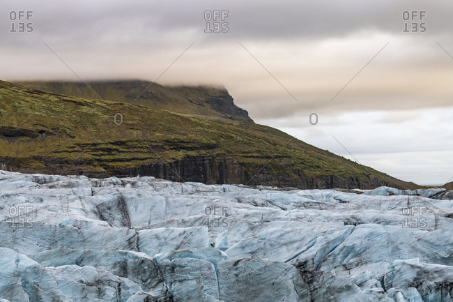 Europe, Iceland, South Iceland, Svinafellsjokull in the evening light
