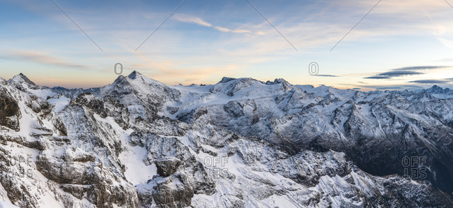 Europe, Switzerland, Central Switzerland, Canton Obwalden, Engelberg, evening on the Titlis