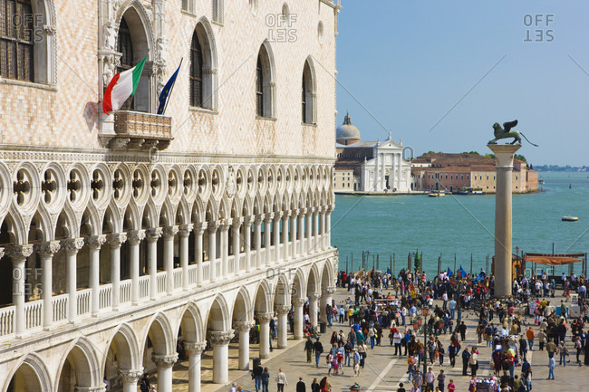 April 20, 2016: Dodge's Palace and Saint Mark's  Square, Venice, Italy