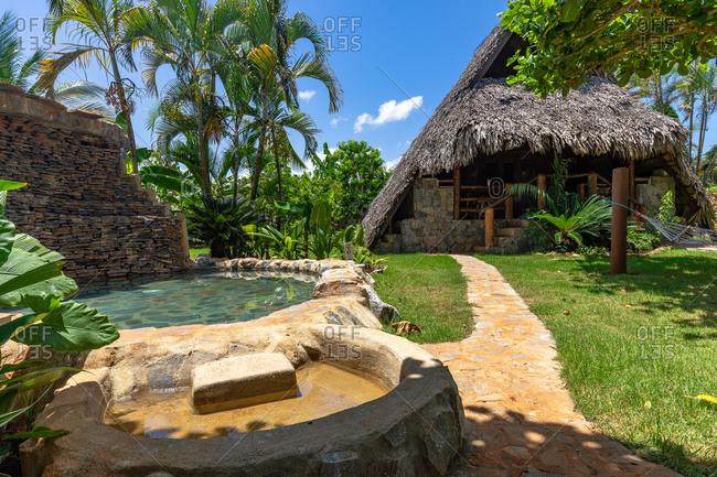 September 3, 2019: Caribbean, Greater Antilles, Dominican Republic, Samana, Las Galeras, Eco-Lodge Chalet Tropical