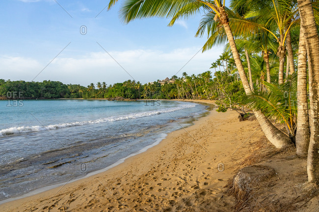 America, Caribbean, Greater Antilles, Dominican Republic, Samana, Las Terrenas, view of the fine dream beach of Playa Bonita