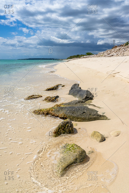 America, Caribbean, Greater Antilles, Dominican Republic, Pedernales, stones on the beach of the Bahia de las Aguilas