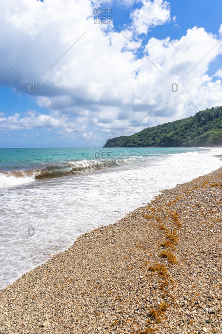 America, Caribbean, Greater Antilles, Dominican Republic, Barahona, San Rafael, beach scene at Playa San Rafael
