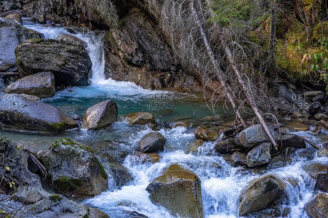 Europe, Austria, Tyrol, Stubai Alps, Neustift im Stubaital, Ruetz River