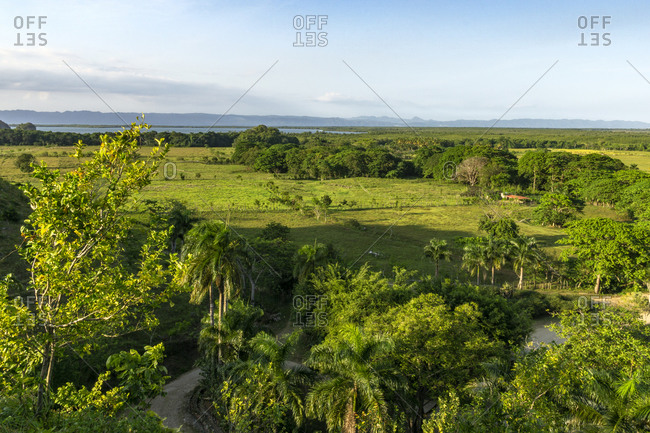 Caribbean, Greater Antilles, Dominican Republic, Samana, Los Haitises National Park, view over the Los Haitises National Park in the Dominican Republic