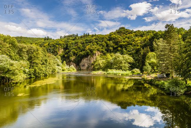 Near Bad Munster am Stein-Ebernburg, original, wildly romantic river landscape, nature reserve in the district of Bad Kreuznach,