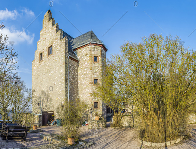 Castle restaurant of the Altenbaumburg, Unterburg, near Altenbamberg in the Alsenz valley