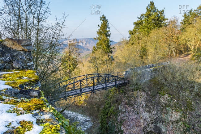 Bridge to Altenbaumburg, near Altenbamberg in the Alsenz valley