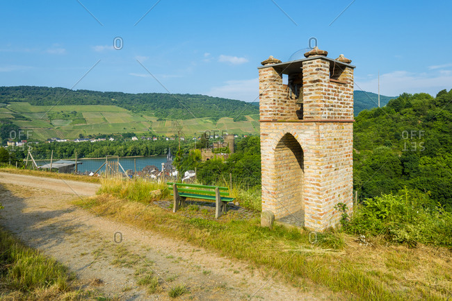 Vineyard house near Niederheimbach, on the Middle Rhine behind Heimburg, Unesco World Heritage Upper Middle Rhine Valley