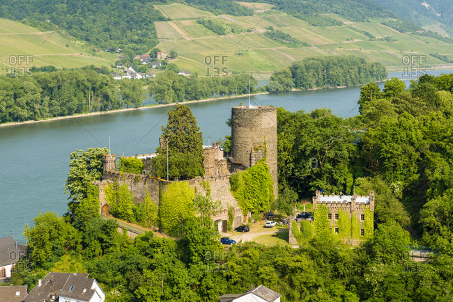 Heimburg, or Hoheneck or Hohneck in Niederheimbach on the Middle Rhine, private property, Unesco World Heritage Upper Middle Rhine Valley