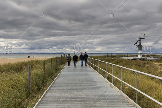 Europe, Poland, Pomerania, Hel Peninsula, path to Helbeach