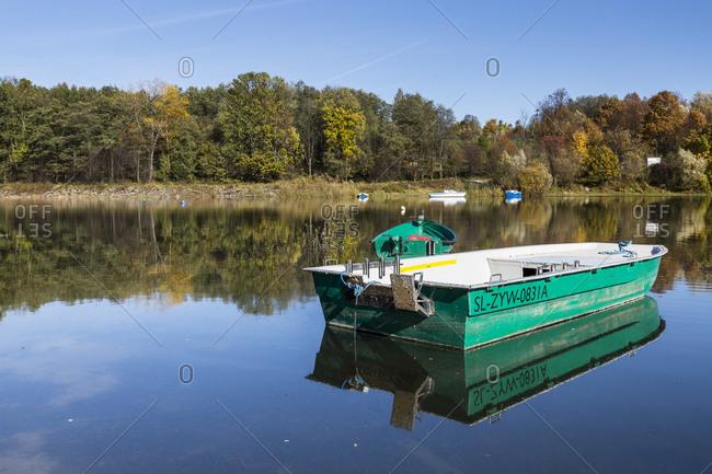Europe, Poland, Silesian Voivodeship, Jezioro Zywieckie / Zywiec Lake