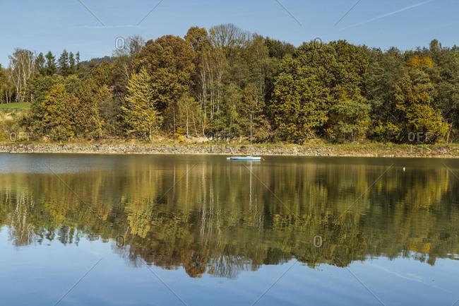 October 17, 2019: Europe, Poland, Silesian Voivodeship, Jezioro Zywieckie / Zywiec Lake