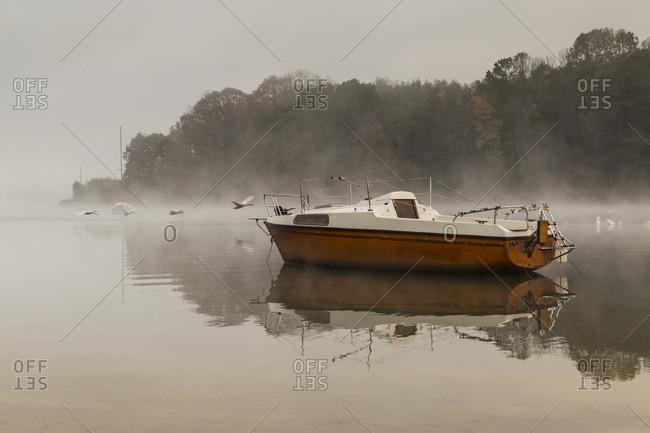 October 18, 2019: Europe, Poland, Silesian Voivodeship, Jezioro Zywieckie / Zywiec Lake