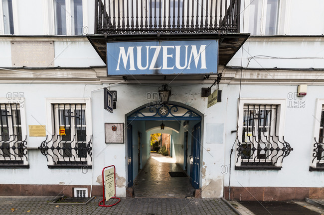 October 15, 2019: Europe, Poland, Swietokrzyskie Voivodeship,  Clock Museum
