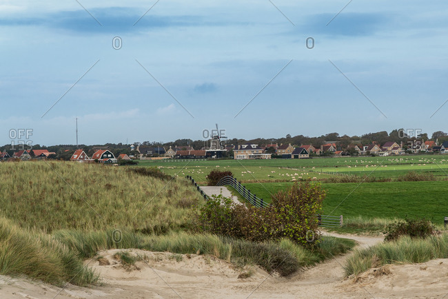 View of Hollum on the North Sea island of Ameland