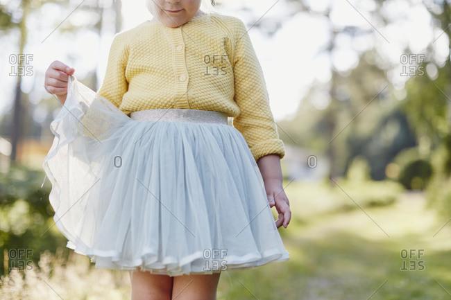 Girl wearing a tutu dress