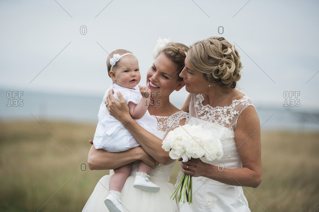 Brides with a baby girl
