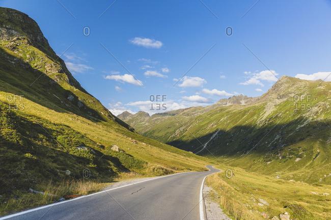 Silvretta High Alpine Road in summer