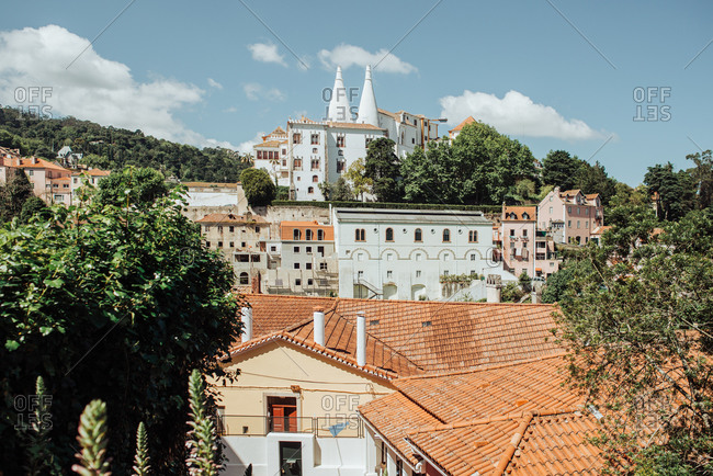 Rooftop view of sintra and national palace