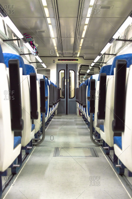 Empty train without any person during covid-19 pandemic.