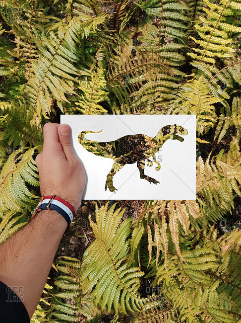 Hand made silhouettes painted with real backgrounds
