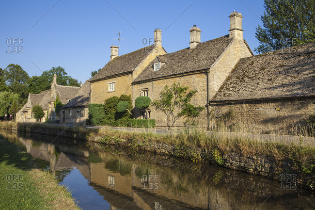 Lower Slaughter village, The Cotswolds, Gloucestershire, England, United Kingdom, Europe
