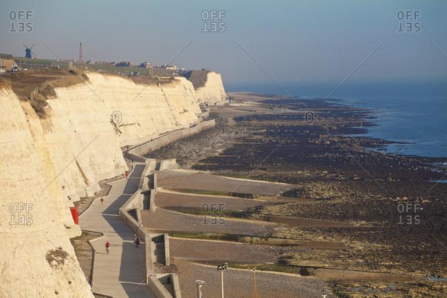 Chalk cliffs by Brighton Marina, Brighton, Sussex, England, United Kingdom, Europe
